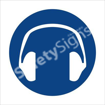 Hearing Protection Shall Be Worn - One Safety Sign